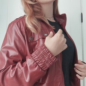 Last Kiss - Foux Vintage Leather Red Jacket